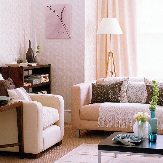 peach living room como decorar a cor rosa 10219